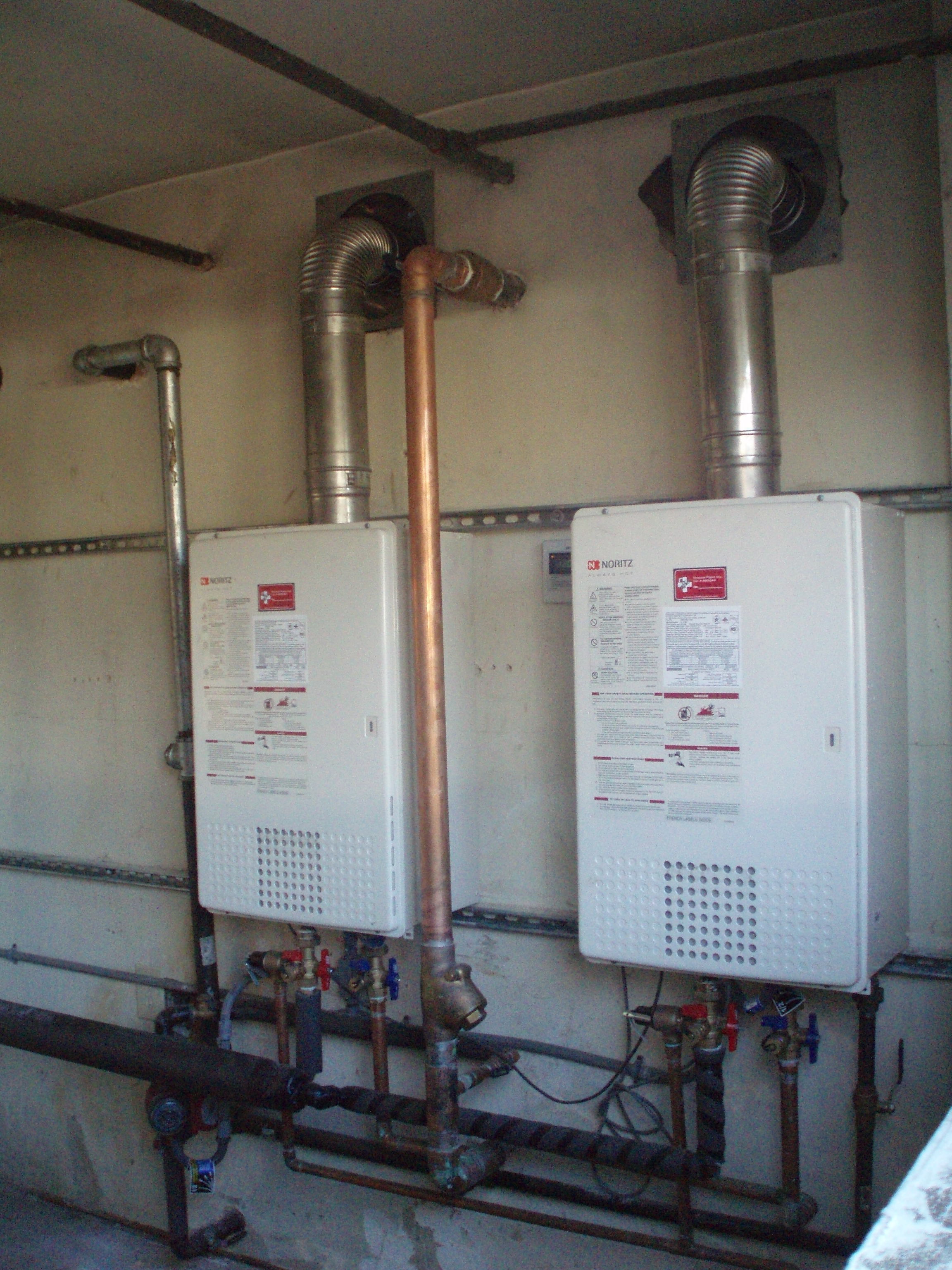 Electric Tankless Water Heater Installation